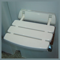 Panel 0 Yes Free Shipping Brand New Folding Relaxation Plastic Shower Seat For Bathroom Wall Mounted White Color Promotion Item