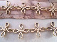 Wholesale Fancy Antique gold Flower shape Metal Chain Necklace Chain mm ft