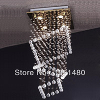 110V Halogen Hotel 2014 new 100% guaranteed square lustre crystal modern chandelier L500*w500*H800mm , home decorative crystal lighting