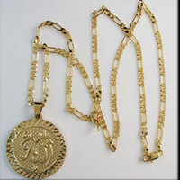 allah god - Min order Top Quality K YELLOW GOLD PLATE NECKLACE MUSLIM ALLAH GOD PENDANT Great Gift Great Money Maker