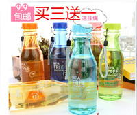 Wholesale portable leak proof plastic cups sealed unbreakable glass soda bottle Ying Cai Hand Creative Student cups