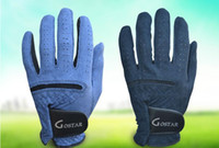 Wholesale men microfiber suede golf glove GO350