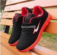 Wholesale 2014 New men and women athletic shoes Lace up Breathable Sport Shoes air running shoes for Lover s