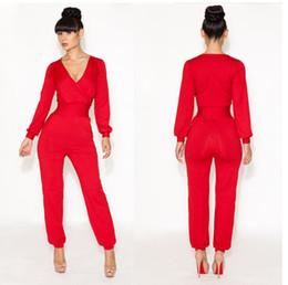 Wholesale 4 Colors new elegant bandage dress Deep V Neck bodycon club party dresses women celebrity clubwear Jumpsuit