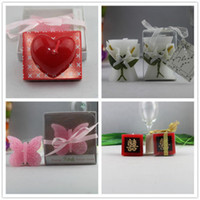 Wholesale Hi word for fancy candle candle memorable wedding personalized butterfly lily four optional special love Happiness