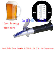 Wholesale hand held wine wort beer brewing S G brix refractometer RSG ATC