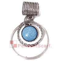 Jewelry Scarf Pendant scarf pendants - 12PCS New Fashion DIY Necklace Pendant Scarf Jewelry Charm Blue Resin Metal Alloy Scarf Pendant Accessories AC0276