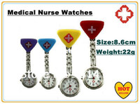 Wholesale Hot Selling Silicone medical nurse watches chest table Pocket Watch Clocks and watches supe Pocket watch many color
