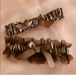 Wholesale perfect brown ribbon Wedding bridal Garters Sexy Lace Garter Bridal Accessories