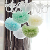 Wholesale Tissue Paper PomPoms Wedding Party Decorations Flowers paper Ball home decor colors to choose diy wedding party supplies