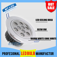 Wholesale X10 by DHL Led Ceiling light W LM LED Recessed Ceiling Down spot Light V led bulb lamp downlight lighting spotlight