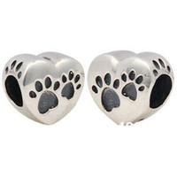 Wholesale Sterling Silver Heart Charm Beads Fits Pandora Style Bracelets Jewelry