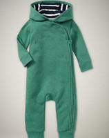 Wholesale baby boys romper kids children bodysuit one pieces jumpsuit hooded long sleeve Rompers p l