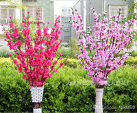 Wholesale Natural Large Artificial Fabric Cherry Blossom Silk Flowers Wedding Bouquet Flowers Party Home Decorations Color