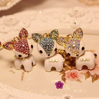 Earphone Jack Plugs 3.5mm iphone,SUMSANG Min.order is $10(Mix order) Free shipping Cell Phone accessories Bling Deer Earphone jack plug Rhinestone 3.5mm Dust Plug