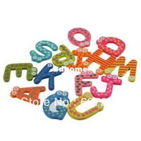 abc fridge magnet - 5sets Fridge Wooden Magnet Baby Child Toy A Z ABC Educational Alphabet Letters