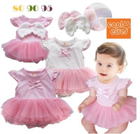 angels brand clothing - Summer baby lovely rompers girls one piece bodysuits jumpsuits infant garment clothes girl angel wings romper p l