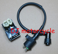 Ignition Switch   Free shipping GY6 50-150cc ignition coil and 6 pin CDI box Chinese ATV CDI GY6 motorcycle spare sparts Scooter