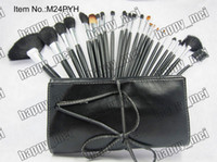 Wholesale 2014 Factory Direct Set New Professional Pieces Brush Sets With Leather Pouch