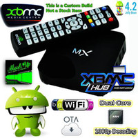 Cheap Dual Core Amlogic MX TV BOX Best Included 1080P (Full-HD) GBOX MX2 Android TV BOX