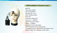 LED Headlamp T6 Strobe Free shipping Portable LED light with flipfilter for Surgical Loupes