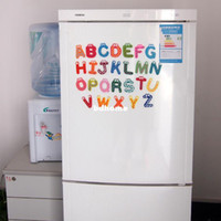 Wholesale 1 Set Small Letter Wooden Fridge Magnets Wooden Magnetic Stickers Alphabet Fridge Magnets Baby Child Toys