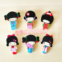 Quilt Accessories free japanese girl - New cute Japanese girl series pin Brooch clip set