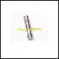 Cheap Free Shipping New 5pcs lot Plus Barrel M6*26 Nozzle Throat For Reprap 3D Printer Extruder HotEnd 1.75mm