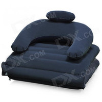 Wholesale Flocking Inflatable Sofa Bed Blue