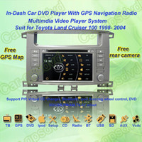 Wholesale 1998 Toyota Land Cruiser GPS Navigation in dash Car DVD multimedia Player system din car radio stereo Free GPS map came