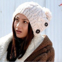 Wholesale Knitted hat with three buttom same style as the movie star christamas gifts