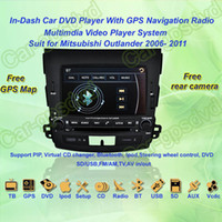 Wholesale 2006 Mitsubishi Outlander GPS Navigation in dash Car DVD multimedia Player system din car radio stereo Free GPS map came