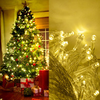 Wholesale M LED Warm White Decoration Wedding Fairy Christmas Tree Party Twinkle String Light EU Modes TK0583
