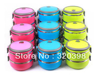 Metal Dinnerware Sets Eco-Friendly Stainless Steel Kids Lunch Box Multi-layer Optional (Two layers 1.4L) Heat Preservation Food Container Lunch Boxes for Children