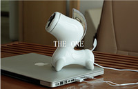Wholesale Mini Portable speaker white horse cartoon horse mm USB music speakers subwoofer speakers for computer Iphone Phone mp3 white New Arrival