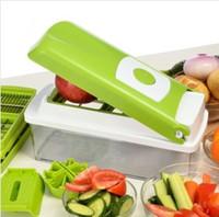 Plastic dicer chopper - Fedex Free Fast Shipping Genius Nicer Dicer Plus Chopper Slicer Food Masher Salad Grater Vegetable Shredder with color package