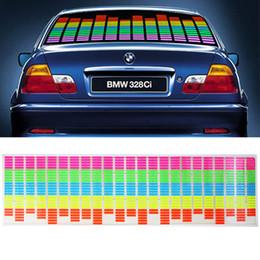 Wholesale 90cm x cm cm x cm Sound Music Activated EL Sheet Car Stickers Equalizer Glow Flash led Light K822 K823