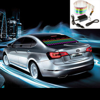 Wholesale 90 cm Sound Music Activated EL Sheet Car Sticker Equalizer Glow Flash Panel Light Accessories K822