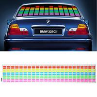 Wholesale Sound Activated Car Panel - 45x11cm 90cm x 10cm Sound Music Activated EL Sheet Car Sticker Sound Activated Equalizer Glow Flash Panel Light car Accessories K821 K822