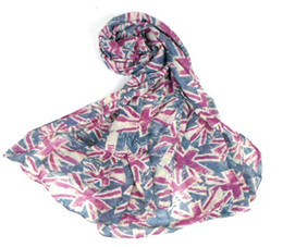 Polyester Classic UK Flag Scarves Union Jack Scarf for Women 2pc left