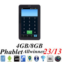 Wholesale JW Big Mobile Smart Cell Phone UNLOCK A13 A23 Dual singel Core Tablet PC Inch Android Q88 Dual Camera GSM Phablet M G