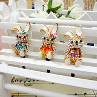 Earphone Jack Plugs 3.5mm iphone,SUMSANG,HTC Min.order is $10(Mix order) Free shipping Cell Phone accessories Rhinestone Rhinestone Rabbit Earphone jack plug 3.5mm Dust Plug
