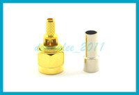 10 pcs lot Free shipping SMA Plug male Pin Connector Goldpal...