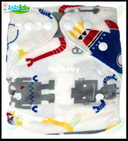 Wholesale New Cute Prefold Cloth Nappies With Microfiber Inserts Reusable Cloth Nappies All In One Size