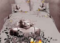 Adult Twill 100% Cotton new Sexy Goddess Marilyn Monroe Luxury oil painting 3D Bedding sets duvet quilt comforter Cover Bedspread 4pcs set Bed in a bag Home Textile
