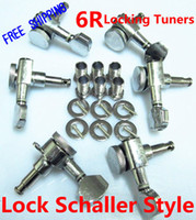 Wholesale NEW Locking Tuners R Chrome Guitar Tuning Pegs Tuners Machine Heads with Lock Schaller Style