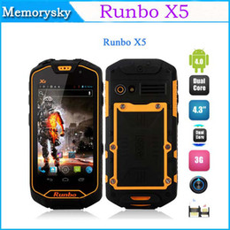 Wholesale Original Runbo X5 IP67 Waterproof Dustproof Android Smartphone With quot Touch MTK6577 Dual Core GPS