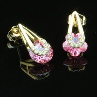 Wholesale Anna jewelry New products listed k gold plated fashion earrings made with Cubic zirconia ATW001PK