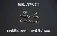 Wholesale Best price Ball Bearing Swivel Solid Rings Fishing Connector mm