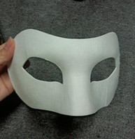 Wholesale Drawing Board Solid White DIY Zorro Paper Mask Blank Match mask for Schools Graduation Celebration Novelty Halloween Party masquerade mask